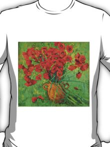 Jug with red poppies in green grass T-Shirt