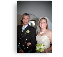 Mr and Mrs Sillence Canvas Print