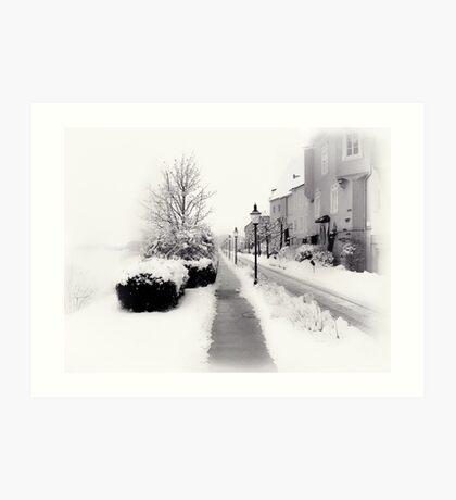 Ybbs Winter Nostalgia Art Print