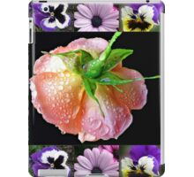 Bejewelled Orange Wildfire Rose Collage iPad Case/Skin