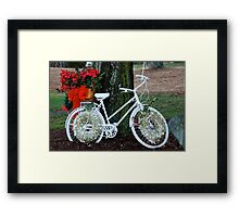 ghost bicycle for a somber christmas Framed Print