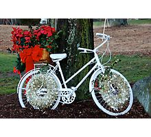 ghost bicycle for a somber christmas Photographic Print