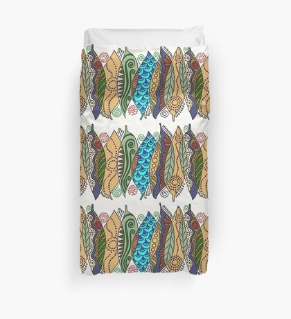 My Country - gum leaves, Aussie style Duvet Cover