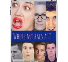 Where are my baes at? iPad Case/Skin