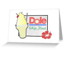 Dole Whip Float Greeting Card