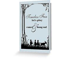 Goat Carting Greeting Card