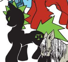 Four Ponies of the Apocalypse Sticker