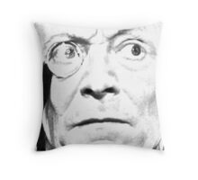 1st Doctor Close Up Sketch Throw Pillow