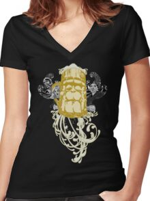 frankenSTEIN Noir Women's Fitted V-Neck T-Shirt