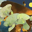 Manatees by Ujean1974