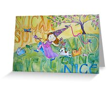 Sugar & Spice Princess Watercolor for Kids Greeting Card