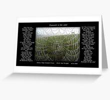 Diamonds In Her Web Greeting Card