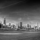 Chicago City Skyline From Grant Park by Adam Kuehl