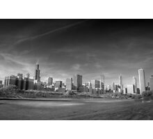 Chicago City Skyline From Grant Park Photographic Print
