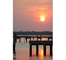 Sunset Docks Photographic Print