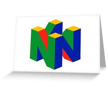 N64 Greeting Card