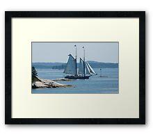 Schooner in the Deer Island Thorofare Framed Print