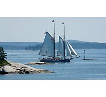 Schooner in the Deer Island Thorofare Photographic Print