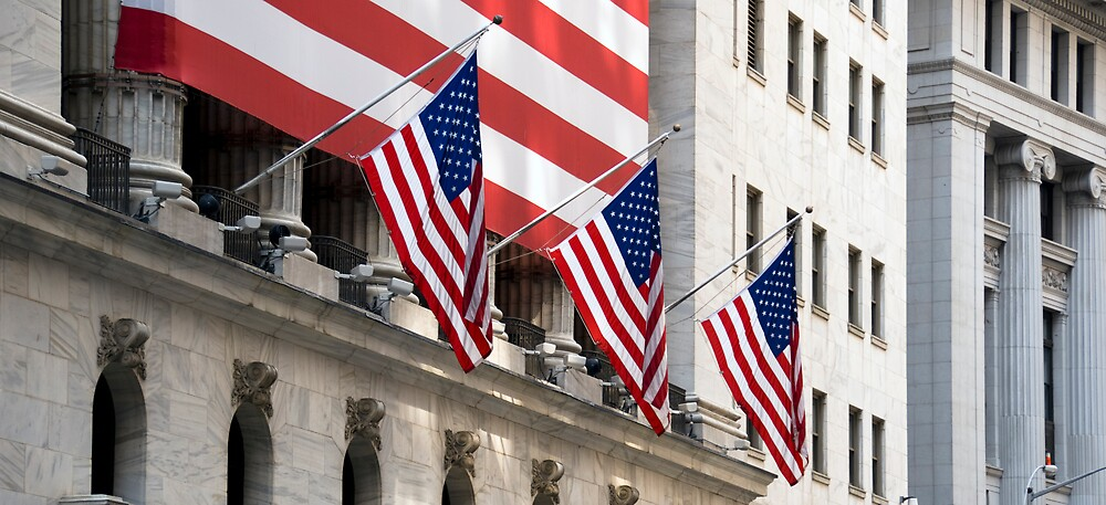 Wall Street Flags by Louis Galli