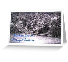 Wishing You A Peaceful Holiday Greeting Card