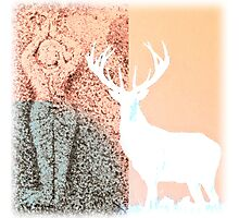 Gaia and the Stag - Salmon Photographic Print