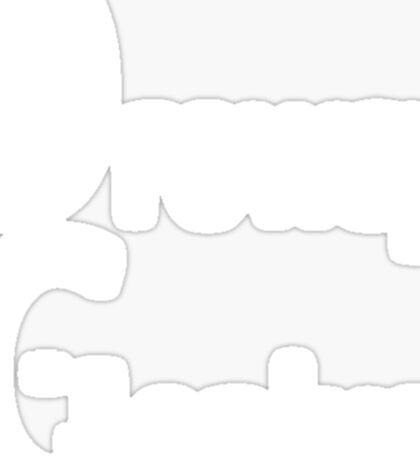 Drowsy Genius (WhiteOnBlackDesign) Sticker