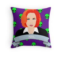 Scully Says  Throw Pillow