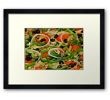 Supreme Pizza Framed Print
