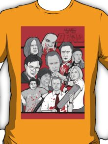 shaun of the dead character collage T-Shirt