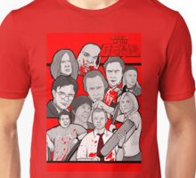 shaun of the dead character collage Unisex T-Shirt