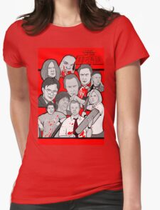 shaun of the dead character collage Womens Fitted T-Shirt