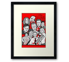 shaun of the dead character collage Framed Print