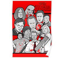 shaun of the dead character collage Poster