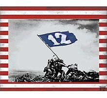 12th Man Raise the Flag Photographic Print