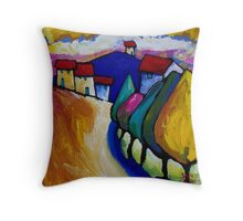 ROAD  INTO  ANGLESEA Throw Pillow