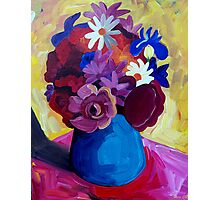 STILL  LIFE  BLUE  VASE Photographic Print