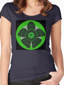 Green flower Women's Fitted Scoop T-Shirt