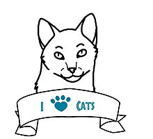 I Love Cats logo by ShelterStaffie