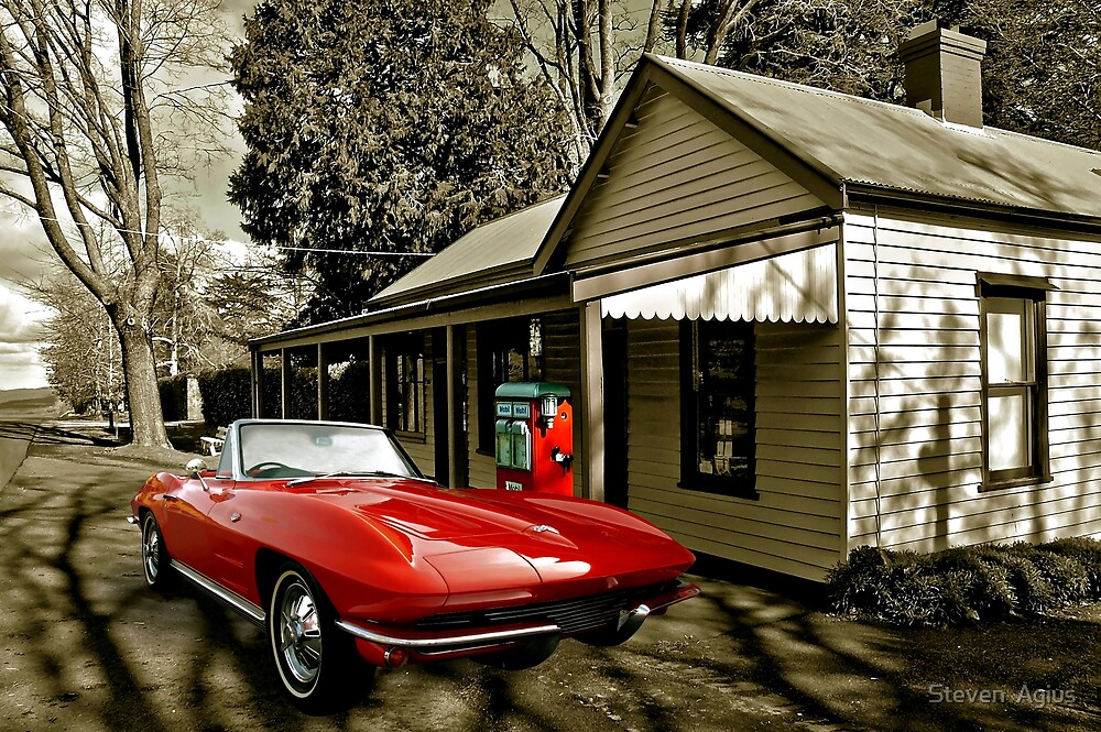 Little Red Corvette - A collaboration with Bill Dutting by Steven  Agius
