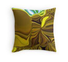 crazy sunflower  Throw Pillow