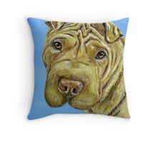 """Aspen"" - Shar-Pei Throw Pillow"