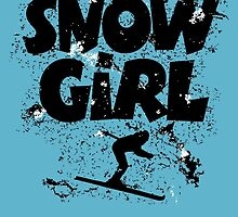 Snowgirl Ski Retro by theshirtshops