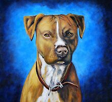 'Angel in Blue' - American Staffordshire Terrier by thatdogshop