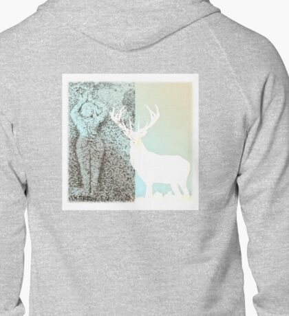 Gaia and the Stag - Blue Zipped Hoodie