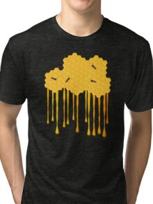 Honey bee hive with honey drip Tri-blend T-Shirt