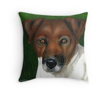 """Otis'"" Jack Russell Terrier Throw Pillow"