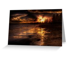 Esplanade sunset Greeting Card