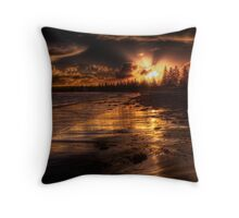 Esplanade sunset Throw Pillow