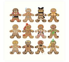 Gingerbread RWBY - All Teams Art Print