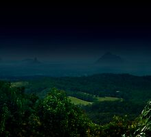 The Glasshouse Mountains by Amorosa